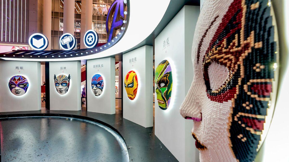 Lego Just Unveiled Avengers Peking Opera Masks In Shanghai